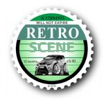 Retro TAX DISC Replacement Design With Koolart New Ford Focus RS External Vinyl Car Sticker 75x75mm